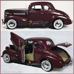 Showcasts 1939 Chevrolet Coupe Hard Top 1:24 Scale Diecast COLOR MAROON UN-BOXED