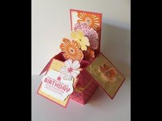 ▶ Stampin Up 3D Box Card with Giftcard Insert and Envelope Punch Board custom envelope - YouTube