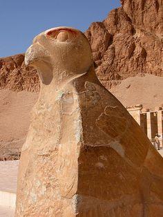 Horus, Deir el-Bahri (el-Bahari), Temple of Hatshepsut, Egypt