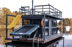 Floating Houses and Saunas Mobile Sauna, Floating Architecture, Floating House, Pontoon Boat, Drafting Desk, Tiny House, Small Spaces, Cruise, Landscaping