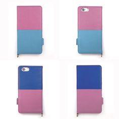 【 本革 + 日本製 】絵になるオトナの iPhoneケース | iPhone 6/6s & Plus 対応 | Genuine Leather Wallet Case for iPhone 6 / 6s and iPhone 6 / 6s Plus.  Peche x Turquoise and Pechex Azur.