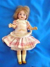 Bisque miniature doll-Recknagel /glass eyes -Germany- 1900