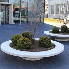 Adezz Garden Planter Polymer Concrete Besso Circular Seat