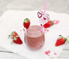 valentines day smoothie recipe via sunny vegan