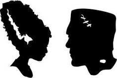 Frankenstein silhouettes.