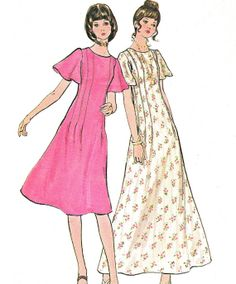 1970s Dress Pattern Butterick 6201 Flutter Sleeve by paneenjerez, $10.00
