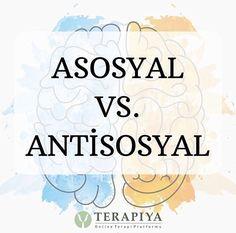 Günlük hayatta birbirine benzer kavramlar gibi kullanılmasına rağmen asosyallik ve antisosyallik arasındaki belirgin farkları biliyor musunuz? #aesthetic #sağlık #evdekal #asosyal #antisosyal #therapy #online #psychotherapy #psychologie #terapiya #terapia #blog Anti Social, Asos