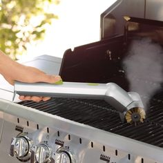 Motorized Grill Brush with Steam Cleaning Power - $34