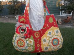 Red Tote Bag by OMGDesigns on Etsy, $37.00
