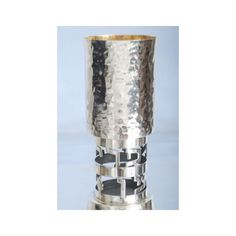 Hammered Silver Cut Out Kiddush Cup