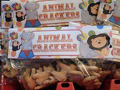Circus Animal Cracker Bag Toppers