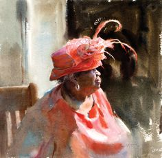 Artist Daily Workshop: Mastering Watercolor Portraiture with Mary Whyte - DVD - Interweave Watercolor Artists, Watercolor Portraits, Watercolor Paintings, Watercolors, African American Art, African Art, Guache, Afro Art, Figure Painting