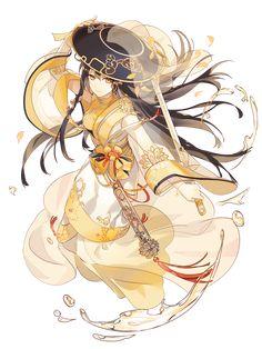 Chrysanthemum Wine | Food Fantasy Wiki | Fandom Cute Anime Boy, Anime Art Girl, Anime Girls, Pretty Drawings, Cool Drawings, Food Fantasy, Fantasy Art, Character Design References, Character Art
