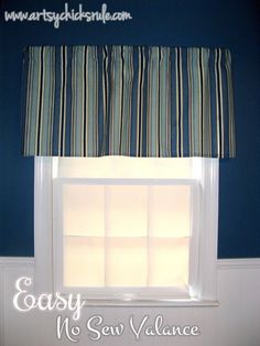 """""""No Sew"""" Inexpensive (cheap!) Curtain....EASY #nosew #curtains #diy- artsychicksrule.com"""