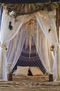 Fairy lights bed.