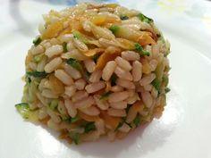 Riso integrale con salsa di soia zucchine e carote  www.cibocreativo.com