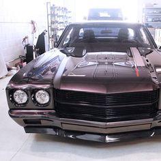 Alex's 70 chevelle muscle car protouring. spoiler