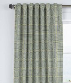 Bennett Check Lined Rod Pocket Curtains with Back Tabs - Pair Was: $89.95 - $109.95                         Now: $71.96 - $87.96