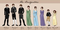 I adore this illustration!!!!!  The Bridgertons by *bechedor79 on deviantART