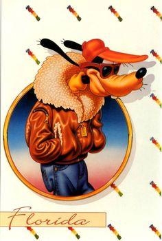 DISNEY - Goofy - Top Dog - Lawson Mardon Postcard (USA)