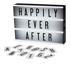 Their very own cinema lightbox. | 22 Wedding Gifts For Couples Who Already Have Their Shit Together