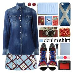 """Denim Shirt"" by barbarela11 ❤ liked on Polyvore featuring Juicy Couture, Marc by Marc Jacobs, Dsquared2, Leica, Casetify, Nails Inc., Asprey, NARS Cosmetics and BillyTheTree"