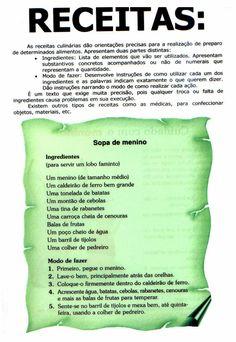 Companheiros da Educação: Gêneros Textuais Prontos Para Imprimir Learn Portuguese, Professor, Activities, Education, Learning, School, Life, Writing Ideas, Pedi