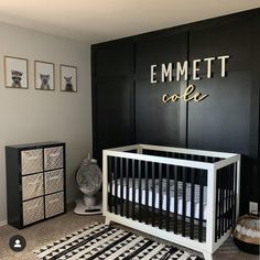baby boy nursery room ideas 347058715035773432 - Modern Nursery For Boy In Black And White Colors ★ Colorful and simple nursery ideas for your baby or for twins to feel as comfortable and loved as possible. ★ Source by clementana Baby Bedroom, Baby Boy Rooms, Baby Room Decor, Baby Boy Nurseries, Baby Boy Nursey, Wood Bedroom, Baby Room Design, Nursery Neutral, Dark Nursery