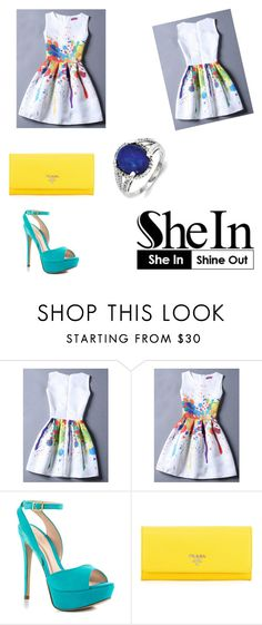 """Shein contest"" by directioner1706 ❤ liked on Polyvore featuring ALDO, Prada and Kevin Jewelers"