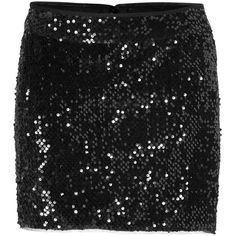 ZADIG & VOLTAIRE Sequined Skirt in Black ($215) ❤ liked on Polyvore featuring skirts, mini skirts, bottoms, party skirts, sequin skirt, sequin mini skirt and mini skirt