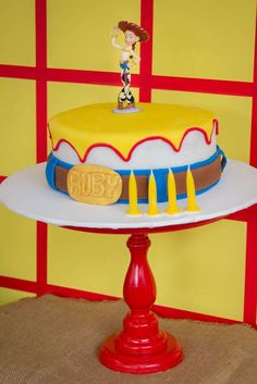 Cool cake at a Toy Story birthday party! See more party ideas at CatchMyParty.com!
