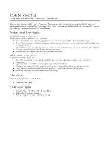Resume Template Milano Ocean Blue