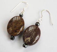 Fancy Agate Woodland Dream Sterling Silver Earrings £8.00
