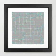 Re-Created SquaresXXX  #Framed #Art #Print by #Robert #S. #Lee - $35.00
