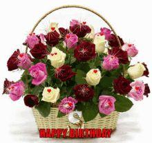 Birthday Flower GIFs | Tenor Flowers Gif, Beautiful Bouquet Of Flowers, Beautiful Roses, Beautiful Flowers, Happy Birthday Flower, Rose Arrangements, Local Florist, Flower Images, Flower Boxes