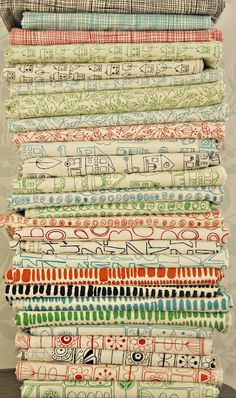 Lucie Summers' Summersville line of fabric.  Designed in UK! love this.