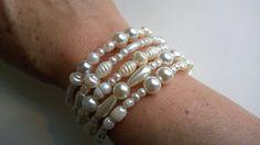 WEDDING JEWELRY  Spiral bracelet  Pearls by LesBijouxLibellule Wire Necklace, Collar Necklace, Pearl Bracelet, Pearl Jewelry, Boho Jewelry, Jewelry Ideas, Wedding Jewelry, Unique Jewelry, Jewelry Design