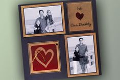homemade picture frame for fathers day