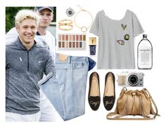 """""""Watching Niall play golf"""" by phenomeniall-style ❤ liked on Polyvore featuring AG Adriano Goldschmied, C. Wonder, Diane Von Furstenberg, Yves Saint Laurent, Hai and NiallHoran"""