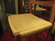 Silver River Center for Chair Caning Chair Repair, Weaving Projects, Vintage Chairs, Chairs For Sale, Danish, Restoration, Cord, Hand Weaving, River