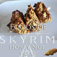 Picture of Foods of Skyrim: Honey Nut Treat game Elder Scrolls, Skyrim Food, Skyrim Game, Bento, Drink Recipe Book, Recipe Box, Food Porn, Food Themes, Food Ideas