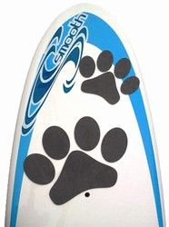 The new Pup Deck SUP traction pad for dogs gives grip to your board right where your dog sits, on the front of the board. You'll find Fido even happier to go paddling with you now that he/she has their own deck pad. With added traction and knowing that the Pup Deck is just for them, your dog will enjoy the stand up paddle surf ride even more than they already do. Watch out, they may take the board out while you're not home!