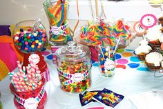 Candy Bar - The Fresh Beat Band Birthday Party Theme - byTina Design Hair Bows & More