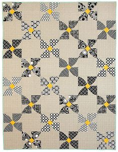 This quilting book is filled with eight fun projects, all with a curvy flair. Jenny Pedigo and Helen Robinson of Sew Kind of Wonderful give you 8 quilt pr Flower Patterns, Quilt Patterns, Sew Kind Of Wonderful, Quilting Projects, Quilting Ideas, Neutral Quilt, Black And White Quilts, Yellow Quilts, Pinwheel Quilt