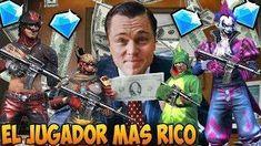 EL JUGADOR MAS RICO DE FREE FIRE   LA MEJOR CUENTA   Kurko Free, Baseball Cards, Teachers, Short Stories, Get Well Soon