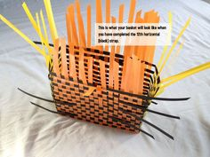 Make Baskets out of repurposing pallet straps. We have found straps on the streets as well as cultivated relationships with businesses who happily save them for us -. Plastic Bag Crafts, Plastic Baskets, Wire Crafts, Diy And Crafts, Washing Basket, Diy Purse, Bag Patterns To Sew, Plastic Canvas Patterns, Basket Weaving