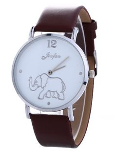 GET $50 NOW | Join Zaful: Get YOUR $50 NOW!http://m.zaful.com/faux-leather-elephant-quartz-watch-p_256130.html?seid=1805886zf256130