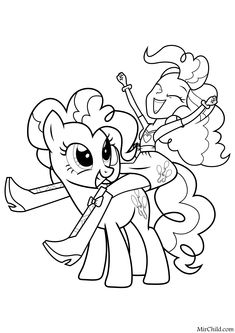 Ladybug Coloring Page, Cute Coloring Pages, Coloring Pages For Girls, Coloring Sheets, My Little Pony Coloring, Pony Drawing, Daisy Girl Scouts, Disney Colors, Barbie House