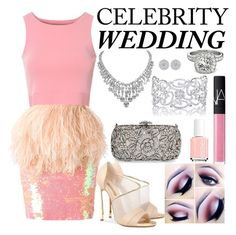 """A Dream in Pink"" by bee4735 on Polyvore featuring Natasha Couture, Daizy Shely, Glamorous, Essie, Allurez, Casadei and NARS Cosmetics"