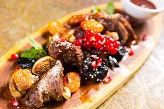 Hovädzí biftek s ovocím